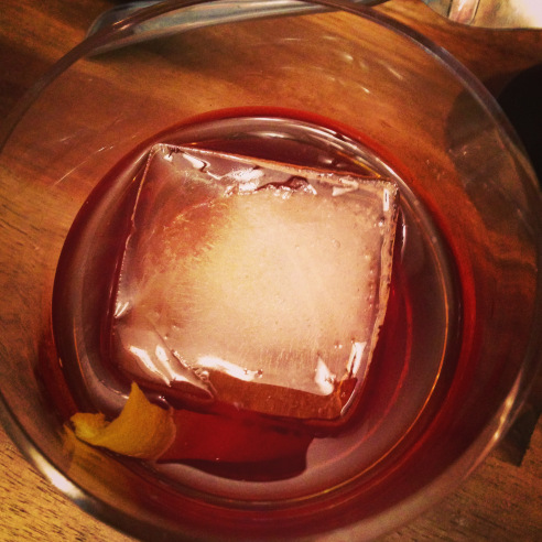 Old Fashioned....3 or 4 oz's Bourbon, lil bit of simple syrup, Bitters ...