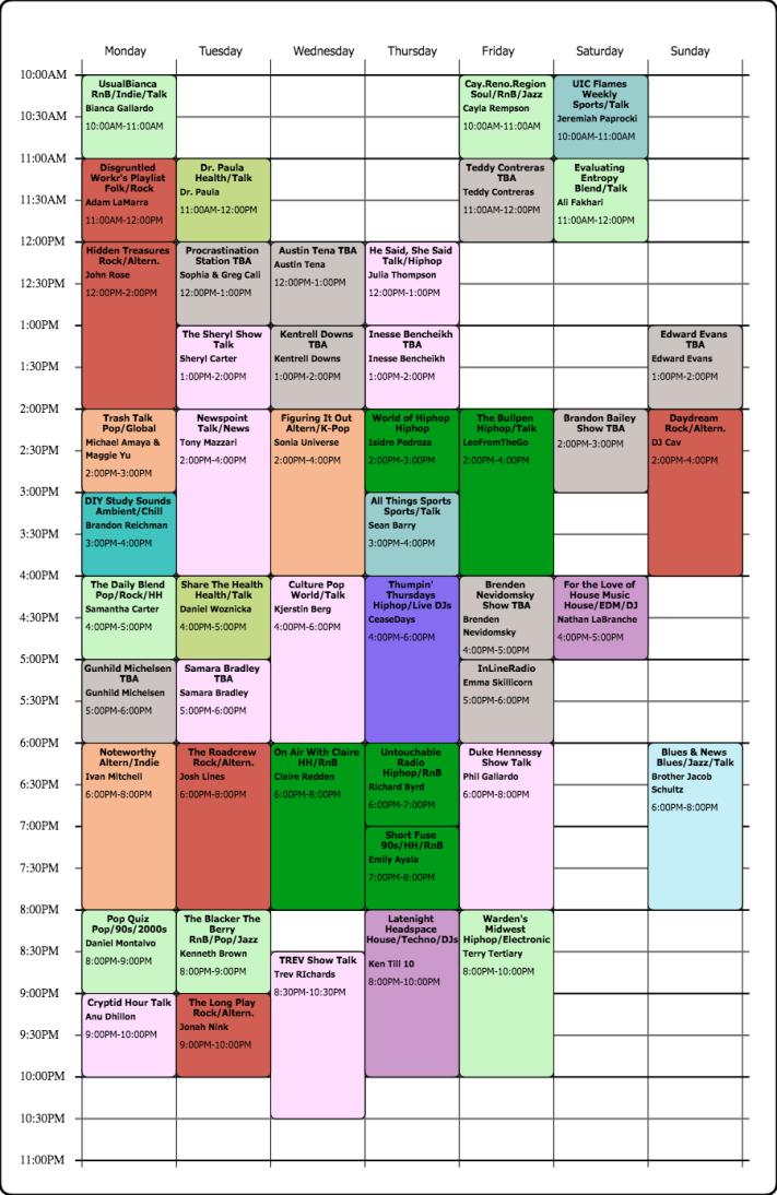 Schedule (10)