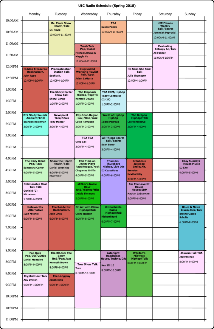 Schedule (9)